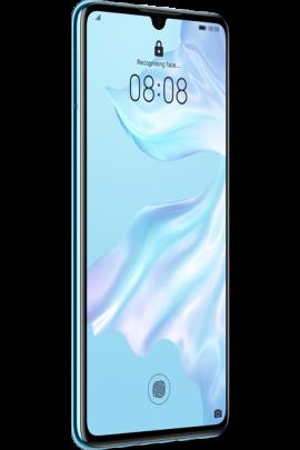 Huawei-P30-Elle_Blue_Front-30_Left_Unlock.png